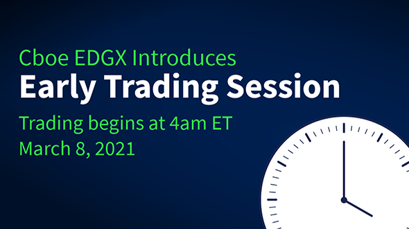 Cboe EDGX Introduces Early Trading Session Thumbnail