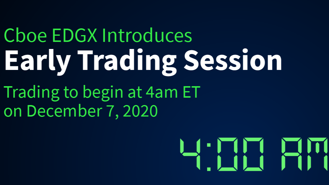 Cboe EDGX Exchange Introduces Early Trading Thumbnail