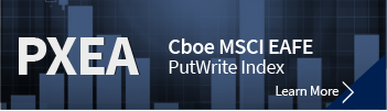 Cboe MSCI EAFE PutWrite Index. Click to learn more.